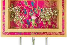 "COLOREL-Rahmen mit Blumenvasen ""Kreise pink/gold/petrol / http://www.colorel.de/store/rahmen-mit-blumenvasen-decopatch/rahmen-kreise-pink-gold/"