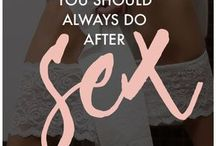 What to do after sex
