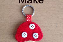 Felted keyrings