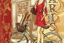 bisikletli ve arabalı dekopaj