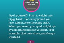 WELFM Weight Loss Daily Tips / Small tips to get you through the year, keep your chin up, and always be positive!