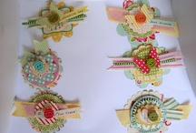 dekorationer till kort å scrap