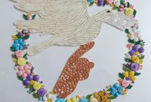 BIRD WITH FLOWERS QUILLING / MY WORK