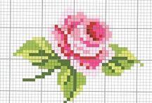 cross stitch - cute rosies