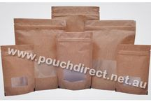 Striped brown paper look bags rectangle window / Striped brown paper look bags rectangle window We offer our Kraft look pouches in variety of sizes and shapes like stand up pouches, flat bottom pouches, side seal pouches and gusseted bags as per requirements.