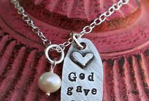Bible Verse Christian Necklaces / Fine Pewter Inspirational Christian Scripture Necklaces Handmade in the USA