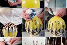 Decoración y recipientes de chocolate-caramelo