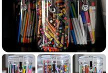Art supplies storage