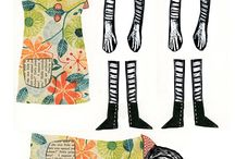 Paper dolls jointed