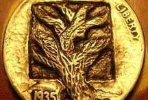 Tree Themes: Hobo Coin Carvings