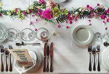 Wedding tables / Decoración mesas boda