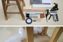 Cozinha - decorar bancos - cadeiras