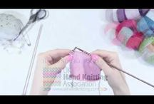 Knitting Video Tutorials / If you want to learn how to knit or to learn new knitting stitches you will find some great video tutorials here for all levels of skill.