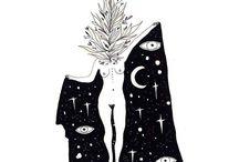 lunar mood board