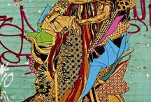 "Takin' It To The Streets (Street Art) / Yarn-bombing, graffiti, street art, overt rebelliousness, creative civil disobedience, vandalic glee. ""The Revolution Will Not Be Televised"" (Gil-Scott Heron)."