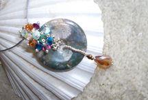 moha achát / Gyöngyfűzött medál