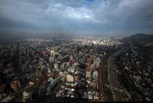 Santiago desde el Costanera Center / Imagen desde el piso 59 del edificio más alto de Chile.