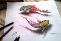 карандаши рисовать