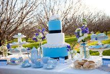 Blue Bridal Shower Cakes / 0