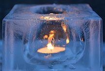 Jäälyhtyjä kuutio ice candle holders cube / PIeniä kuutionmuotoisia jäälyhtyjä, jotka voi ripustaa roikkumaan rautalangalla