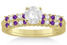 Amethyst Engagement Rings / Amethyst engagement Rings will be right choice for the engagement as it shows the core qualities of genuine love; romance, honesty and commitment for your partner. Amethyst rings are the best to shower your love on your partner as it is believed that it protects from harm and envy.  / by Allurez