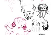 sea creatures_sketches