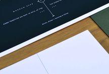 Minimal design invitations