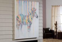 TABLEAUX ACRYLIQUES / Des propositions pour décorer votre maison avec des tableaux avec cadre en bois et peints sur toile à l'acrylique.