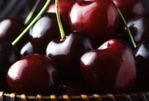 Red juicy cherries