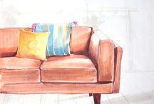 Скетчинг мебель_Sketching furniture
