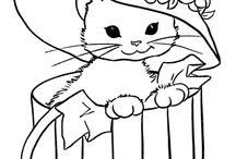 6 Cute Cat Coloring Pages
