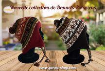 Bonnet peruvien en laine d'alpaga / Bonnets péruviens en laine d'alpaga fait à la main para nos artisans péruviens.