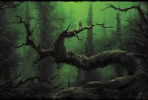 Creepy, magic forest / I admit - Neil Gaiman and his books are inspiration here.