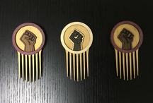 BLK FST / Inspired by the Classic Black Fist Comb, Strength, Unity.  Afrofuturistic Styling Combs and Afro picks hand made from exotic hardwoods!    We are a new company and we need you to PIN and SHARE!!!  www.carbon-ar.com