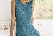 vestidos em tricô / crochê