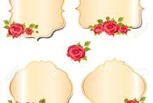 çiçekli yazı alanları