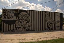 Hygienic Dress League / Street art from a team of one of Detroit's most prolific street artists.