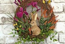 EASTER: wreaths & porch decor / by April Martin