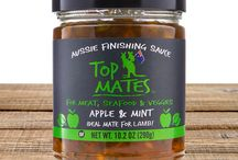 Top Mates Finishing Sauces / G'Day Mates! Enjoy the best in life by bringing your food to life with flavor packed finishing sauces.  Aussie Finishing Sauces are Australian Made and sourced from the best ingredients locally and around the world - they're also Gluten Free.  Use as a condiment, a marinade or during cooking. Makes a great gift… check out the Mate of the Month Club or purchase a gift certifcate.  Which ones will you chose?