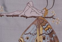 Бабочки вышивка