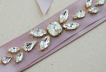 EarringsNation - Bridal Sashes / Handmade Bridal Sashes with Swarovski Crystals by Eaindar