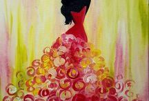 Paint Nite Paintings - Fashion