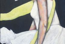 Acrylic Paintings - Portraits of women / Figurative paintings from Carolien de Brouwer. Artist from the Netherlands
