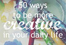 creativity ♡ / ways to be more creative, creativity, creative living, artist life