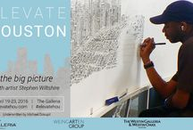 Elevate Houston / After a single helicopter ride memorizing Houston's sweeping landscape and unique architecture, Stephen Wiltshire will work publicly at The Galleria 19-23 April drawing a large, detailed panorama of Houston entirely from memory.