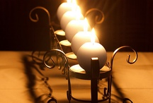 Wrought iron and candles