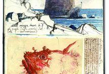 collage, sketchbook, journalling / collages,art, journalling, sketchbook