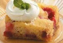 Rhubarb stalk cake