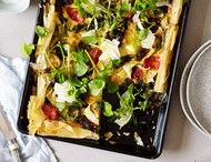 Frittata, fritters, pizza and tarts