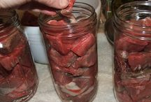 Canning, preserving food